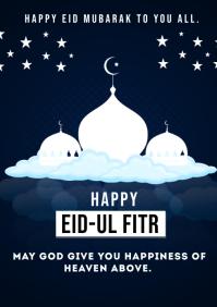 eid mubarak A4 template