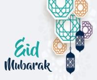 Eid Mubarak Medium Rectangle template