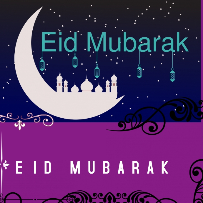 EID MUBARAK Logotyp template