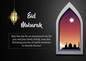Eid Mubarak Kartu Pos template