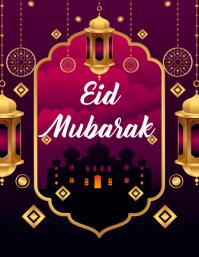Eid Mubarak 传单(美国信函) template