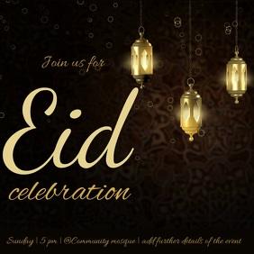 Eid Mubarak Message Instagram template