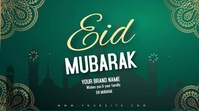 eid mubarak editable video wishes mosque Tampilan Digital (16:9) template