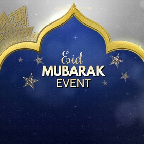 Eid Mubarak Event Video Template Advert Night