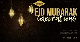 Eid Mubarak Facebook cover video template