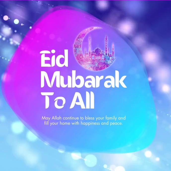 Eid Mubarak Greeting Instagram Post Iphosti le-Instagram template