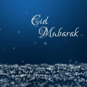 Eid Mubarak Greeting Wishes Card Video Online Isikwele (1:1) template