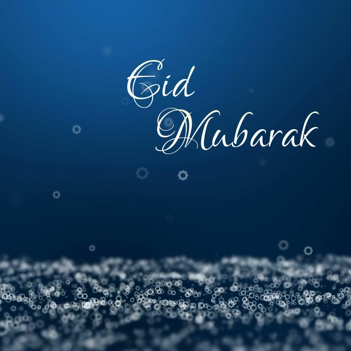 Eid Mubarak Greeting Wishes Card Video Online Persegi (1:1) template