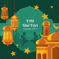 Eid Mubarak Hari Raya Idul Fitri 2021 Wpis na Instagrama template