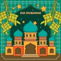 Eid Mubarak Hari Raya Idul Fitri 2021 Instagram Post template