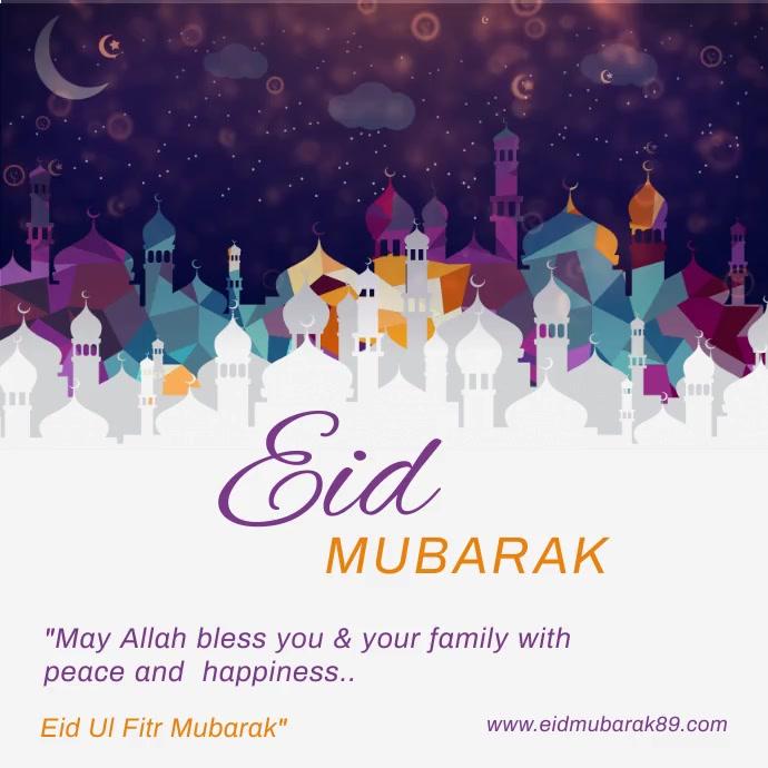 Eid Mubarak Insta Post.... template