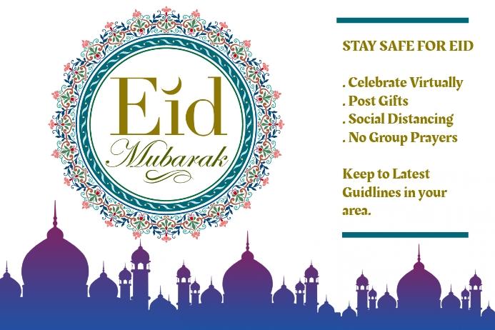 Eid Mubarak Ramadan Plakat template