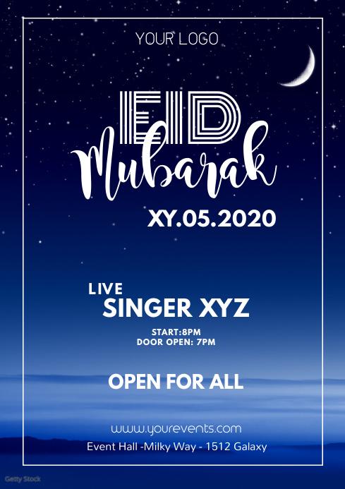 Eid Mubarak Ramadan Iftar Event Poster Flyer