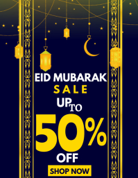 eid mubarak sale flyer template
