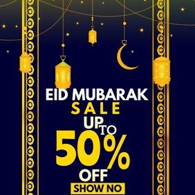 eid mubarak sale poster template