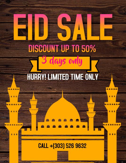 Eid Mubarak Sale Flyer