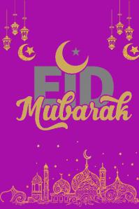 eid mubarak template Poster