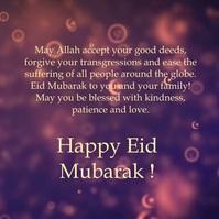 Eid Mubarak video greeting Kvadrat (1:1) template