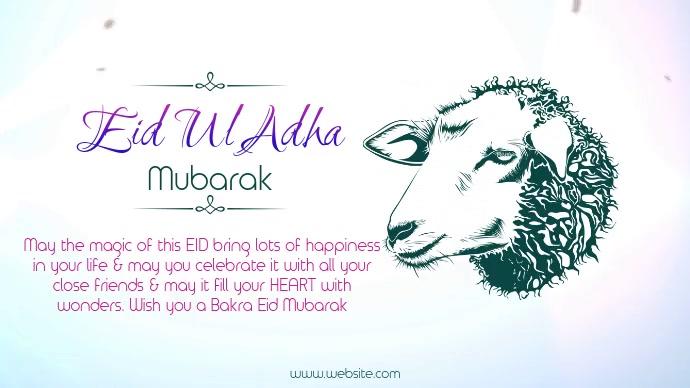 Eid Mubarak Wish Pos Twitter template