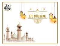 Eid mubarak wishes template Løbeseddel (US Letter)