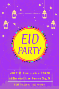 Eid Party Poster Template
