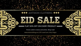 Eid Retail Sale In Store Display Banner