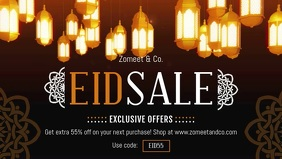 Eid Sale at Store Facebook Cover Video