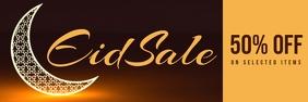 eid sale banner Spanduk 2' × 6' template
