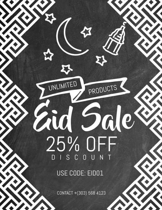 Eid Sale Flyer Volantino (US Letter) template