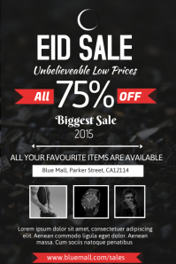Eid Sale Poster Template