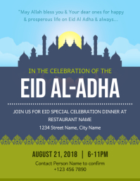 Eid ul Adha Celebration dinner Flyer Template