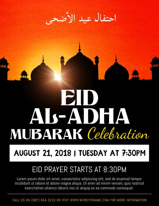 Eid ul Adha Celebration Event Flyer Template