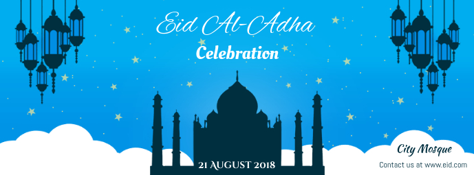 Eid ul Adha Celebration Facebook Cover Template   PosterMyWall