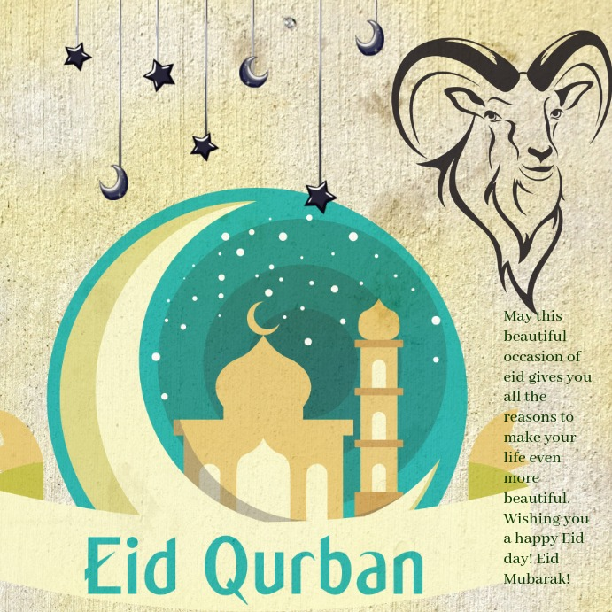 eid uladha template  postermywall