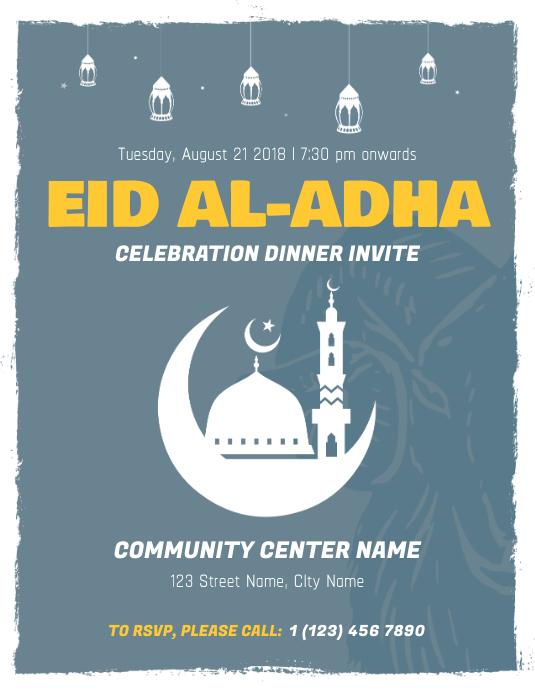 eid ul adha dinner invite flyer template