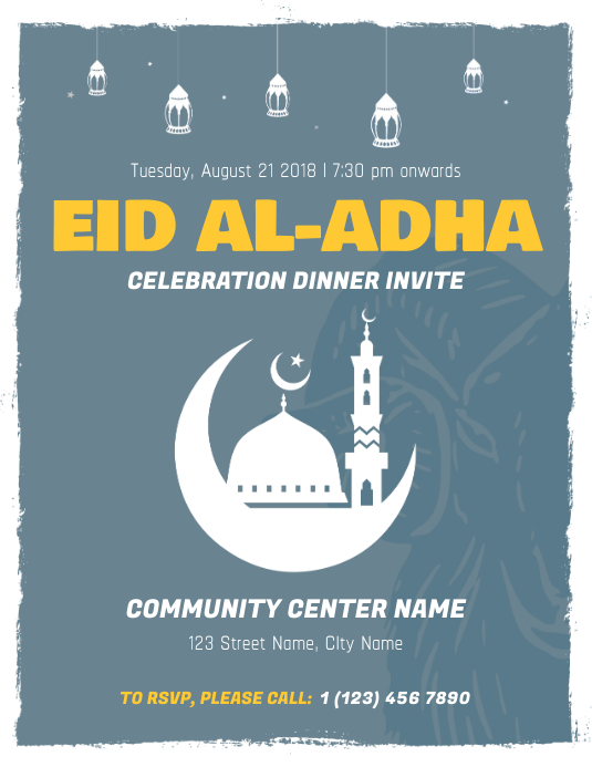 Eid ul Adha Dinner Invite Flyer Template
