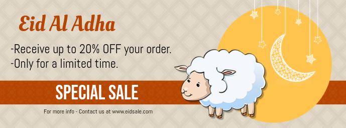 Eid ul Adha Sale Facebook Cover Template