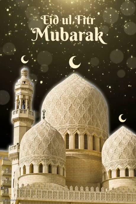 Eid ul Fitr Mubarak Template Plakkaat
