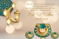 Eid ul udha Affiche template