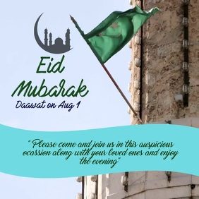 Eid Video Flyer Ad Instagram Post template