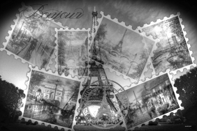Eiffel-TowerPosterB&W