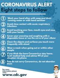 eight 8 steps to avoid coronavirus flyer desi