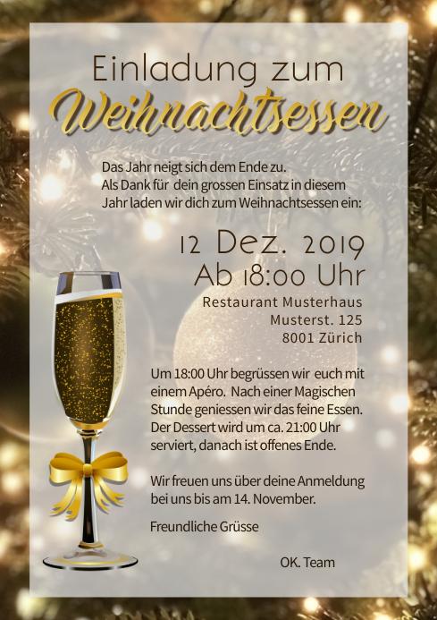 vorlage einladung weihnachtsfeier