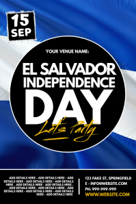 El Salvador Independence Day Poster template