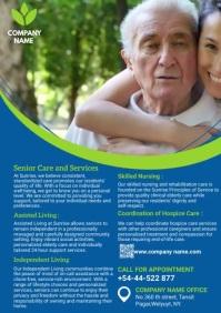 elder care flyer A4 template
