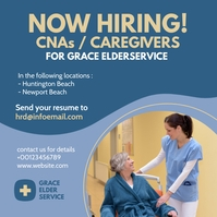 elder care jobs Post Instagram template