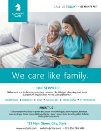 elder care retirement house flyer advertiseme Volante (Carta US) template