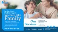 Elder Care Service Ad Twitter-Beitrag template