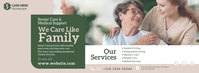 Elder Care Service Ad Facebook Cover Photo template