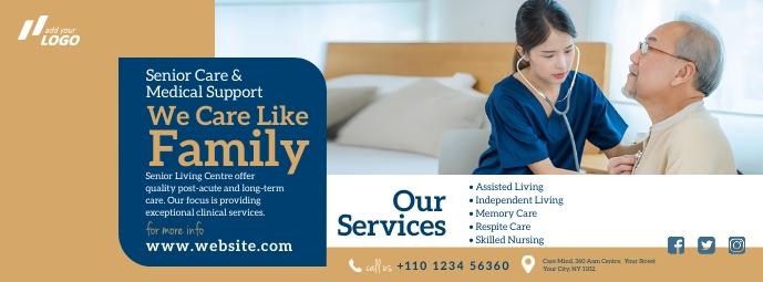 Elder Care Service Ad Фотография обложки профиля Facebook template